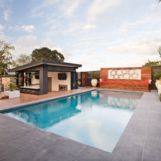 Contemporary Pool by Apex landscapes