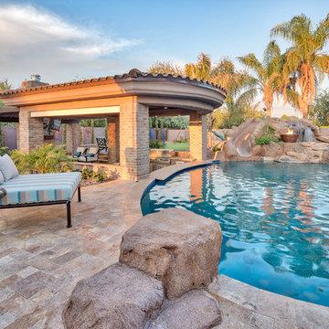 Beautiful Mesa, Arizona Backyard