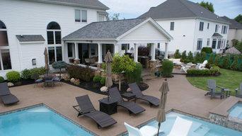 Beautiful Modern Rectangle Gunite Pool & Spa