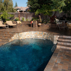 Contemporary Pool by Basalite Concrete Products