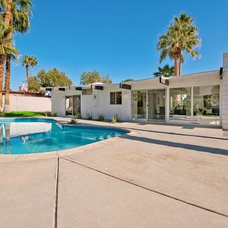 Mediterranean Pool by House & Homes Palm Springs Home Staging