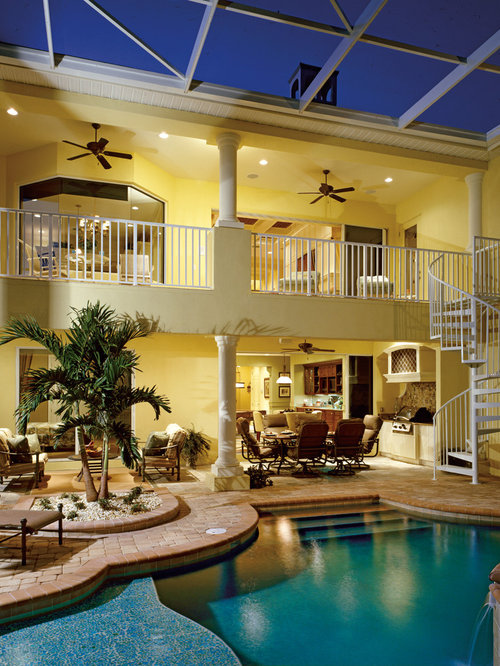 Master bedroom balcony home design ideas pictures for Pool design tampa