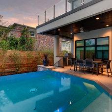Modern Pool by Frankel Building Group