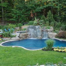 Eclectic Pool by Cipriano Landscape Design & Custom Swimming Pools