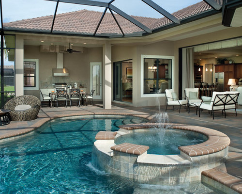 Mediterranean tampa pool design ideas remodels photos for Pool design tampa