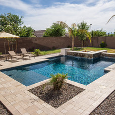 Contemporary Pool by California Pools & Landscape