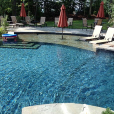 Transitional Pool by ELITE Landscaping
