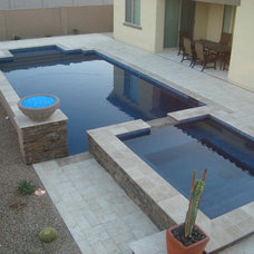 Contemporary Pool by MONSTER POOL COMPANY