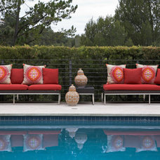 Eclectic Pool by Wright Interiors, Allied ASID