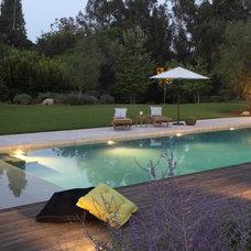 Mediterranean Pool by Cassy Aoyagi, FormLA Landscaping