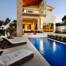 Contemporary Pool by Residential Attitudes