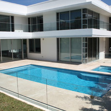 Contemporary Pool by Minke Pools