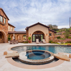 Mediterranean Pool by Sendero Homes
