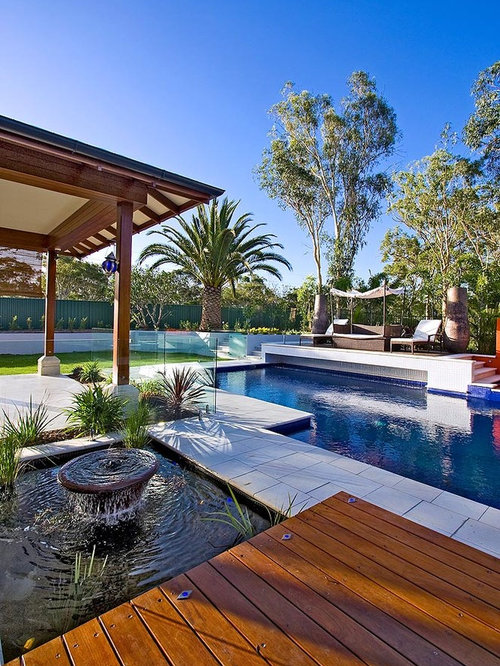 Beach style brisbane pool design ideas remodels photos for Pool design brisbane