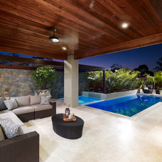 Tropical Pool by BLADE Landscape Design