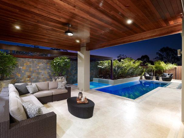 Tropical Pool by BLADE Landscape Design