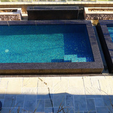 Contemporary Pool by Agape Tile LLC