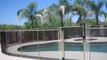 Black and Tan Life Saver Mesh Pool Safety Fence