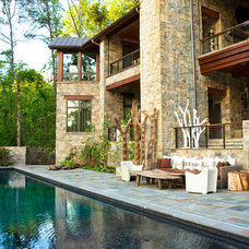 Rustic Pool by Markalunas Architecture Group