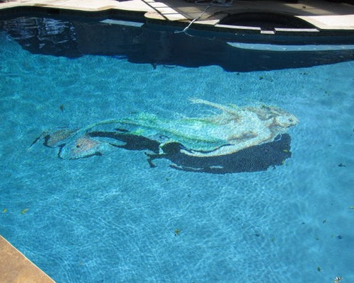 Swimming Pool Epoxy Grout : Blue mermaid swimming pool