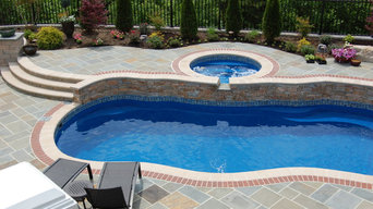 Bluestone pool and outdoor room