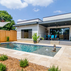 Contemporary Pool by Greenbrook Homes