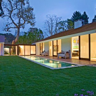 Inspiration for a 1950s lap pool remodel in Los Angeles