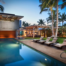 Contemporary Pool by Gregory Pierce Photography