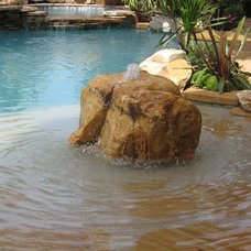 Contemporary Pool by Waterfalls Fountains & Gardens