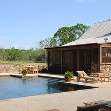 Farmhouse Pool by Al Jones Architect
