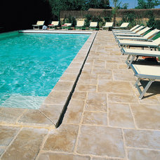 Mediterranean Pool by Nicolock Paving Stones and Retaining Walls