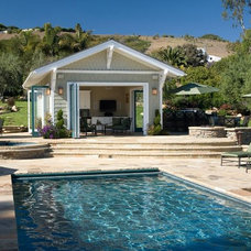 Traditional Pool by Pacific Architects, Inc.