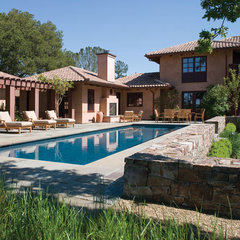 mediterranean pool by BraytonHughes Design Studios
