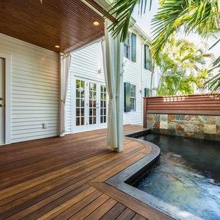 Brazilian ipe Decking & Mahogany Waterfall Feature