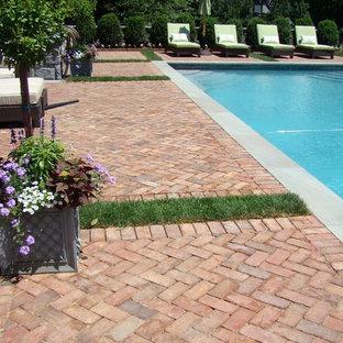 Brick Pool decking and Garden