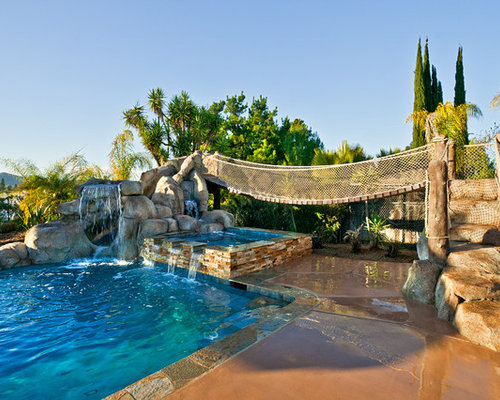 Best Tropical Backyard With Lazy River Pool Design Ideas ...