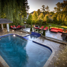 Traditional Pool by Pro-land Landscape Construction