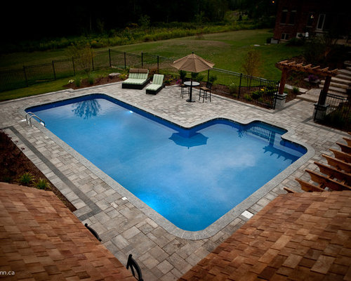 Craftsman photos et id es d co d 39 abris de piscine et - Piscine pool house des idees ...