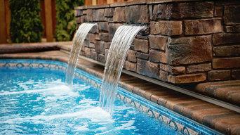 Brunswick waterfall into pool