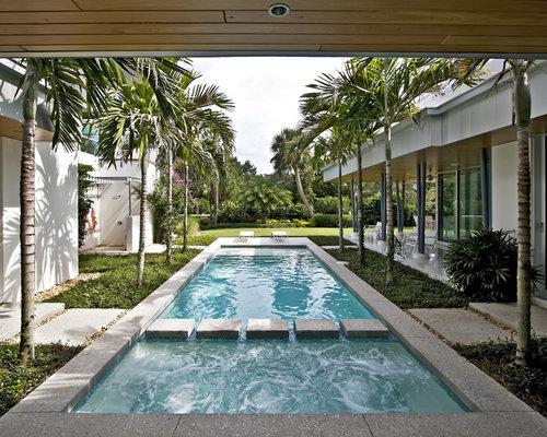 U Shaped House Courtyard Houzz