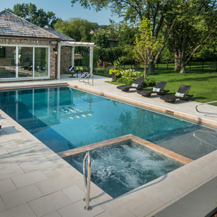Burr Ridge, IL Swimming Pool, Spa, Sunshelf with Automatic Pool Cover