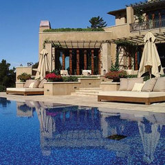 mediterranean pool by Buttrick Wong Architects