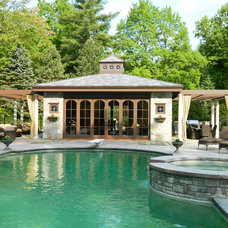 Traditional Pool by Residential Design Unltd.