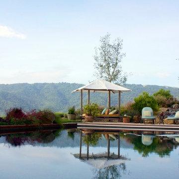California Craftsman Hillside Garden