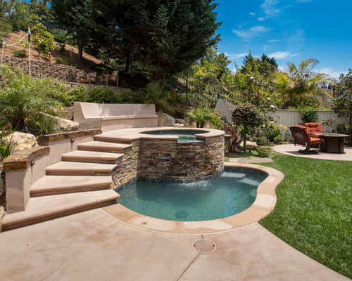 Small Pool With Jacuzzi Home Design Ideas Pictures