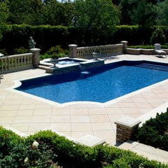 traditional pool by California Pools