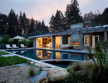 California Rancher and Pool House