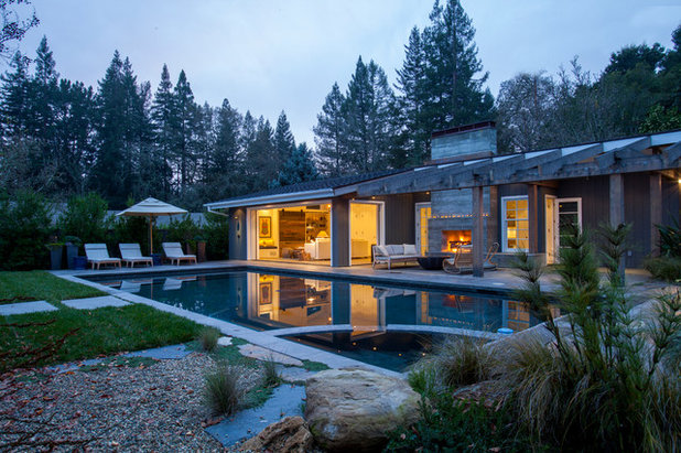 Contemporary Pool by LMB Interiors