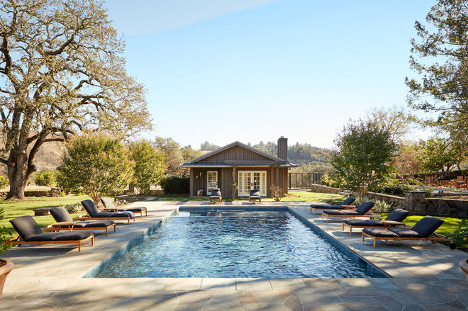 Farmhouse Pool by JKT Associates, Inc.
