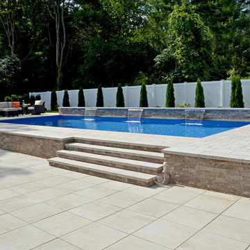 Calming Pool Haven in Hauppage, NY